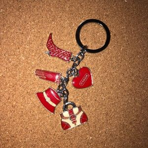 Key Fob COACH Charmed Shopper